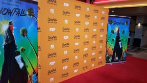 """Red Carpet Back-Drop for """"SnowFall'"""