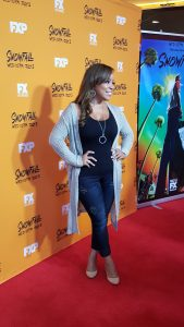 """Actress Reece Odum recently attended the screening of the new TV series """"SnowFall"""""""