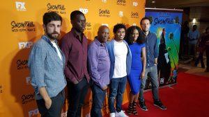 Co-Creators and the Cast at the Atlanta Screening of SnowFall
