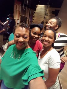 Selfie with the Cast- Brittany, Ayana, and Christy. They are ALL  multi-talented!